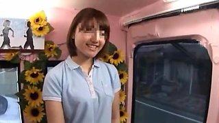 Amazing Japanese girl in Crazy Bus JAV clip
