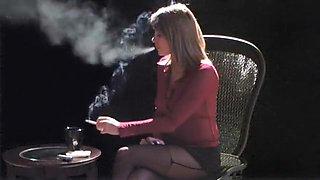 Smoking hot bimbo fantasizes about fucking while having a c