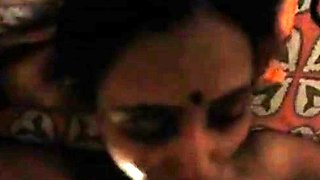 Very Sexy Homemade Desi Aunty Mouth Fucked By Husband