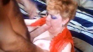 Pale skin curvaceous redhead vintage milf blows nice big rod