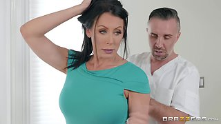 MILF Reagan Foxx oiled up before a fuck and a facial