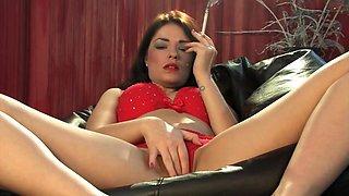 Ava Dalush corks  smoking masturbation