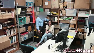 thieves sienna and peyton forced to bang in office