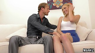 Blond College Beauty Trillium Screws Her Boss for Job