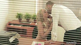 Delicious secretary Christen Courtney seduces her boss