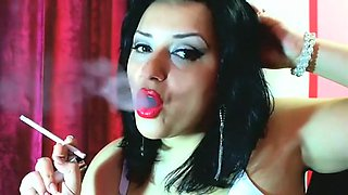 Exotic amateur Fetish, Smoking xxx scene