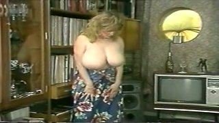 Insatiable mature blonde lady still wants to stuff cock in her mouth
