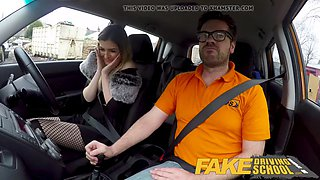 fake driving school petite learner with eats instructors cum