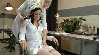 Naughty Nurse Dominates Stupid Bimbo