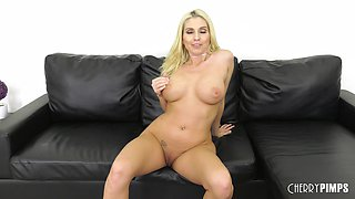 Bosomy flexible blonde Christie Stevens having her twat dicked