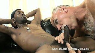 White Daddy Breaks Ass On Huge Black Cock