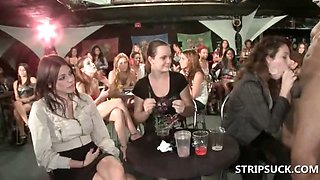 Hot stripper getting BJs at sexparty