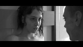 black and white clip with luna ruiz getting nailed in a kitchen
