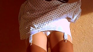 Retro girdle panties and stockings