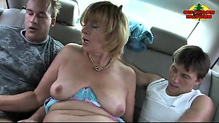 mature fucking in the car