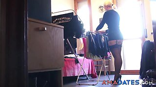 Hot housewife is waiting for her hungry husband from work