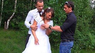 the bride fuck by three guy