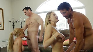 Astrid Star and Anna Kelly crave skillful men's massive cocks
