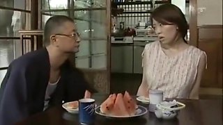 Japanese Wife and Father in Law cant wait