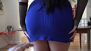 Slutty babe in fishnets Trina Rush getting boned like she deserves