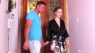Stella Cox takes off her clothes for a great bathroom shag