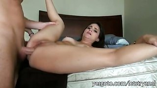 Bikini girlfriend anal pounded at home while a camera turns