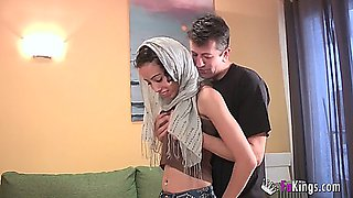 lovely spanish arabic girl gets a wonderful fuck (amateur)
