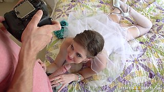 Bride Posing And Sucking