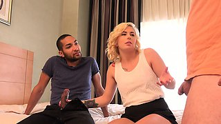 Blonde Wife Creampied By Black Cock and Husband Eats It