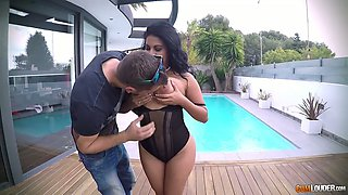 Posh Venezuelan milf Kesha Ortega and her slutty GF are fucked by one horny stud