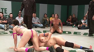 Rd 1/4 Of May's Live Tag Team Match: Totally Non-Scripted Lesbian Wrestling - Publicdisgrace