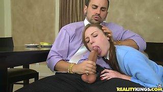 Nasty boss fucks rough his very sexy secretary in his office