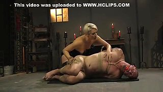 Experienced blonde Milf mistress dominates guy