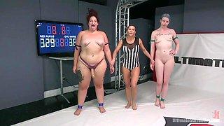 fat lesbian is the wrestling winner