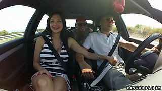 slutty hungarian babe aletta ocean seducing the driver