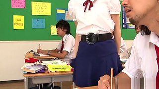 Nippon schoolgirl fingered and pussylicked