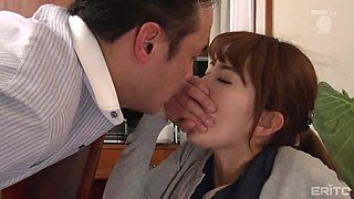 japanese housewife getting facefucked on the couch