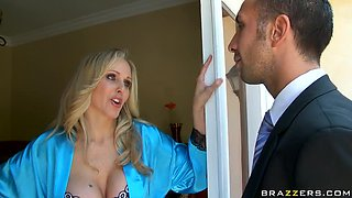 Busty MILF Artist Julia Ann Cleaning up a Big Cock
