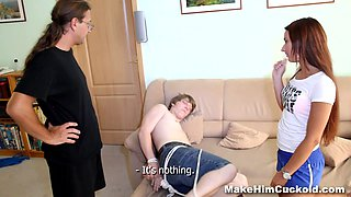 Make Him Cuckold - Cheater punished like a cuckold