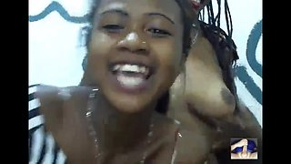 African college girl dancing for my cock