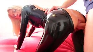 Latex anal with condom