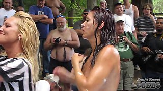 2009 Show Hot And Wild Chick Oil Wrestling - SouthBeachCoeds