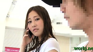 Japanese office hotty provides her cunt to her boss