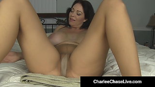 Busty Milf Charlee Chase Rubs Her Pantyhosed Pussy & Squirts