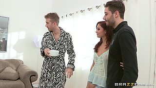 Ariana Marie is fucked by a monster cock until she's covered by cum