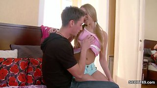 step-bro-in-law not seduce hot blonde to get the first kiss