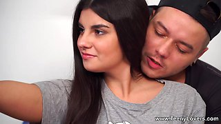 Teeny Lovers - Bell Knock - Selfie-teeny fucked in bed