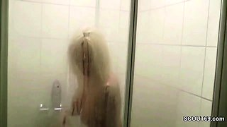 He Caught German Mom of Friend in Shower and Seduce to Fuck