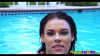 Babe Peta Jensen at the pool