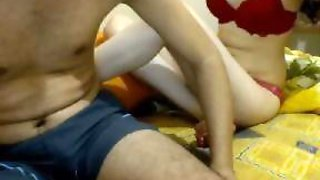 Pale Turkish teen fools around on webcam